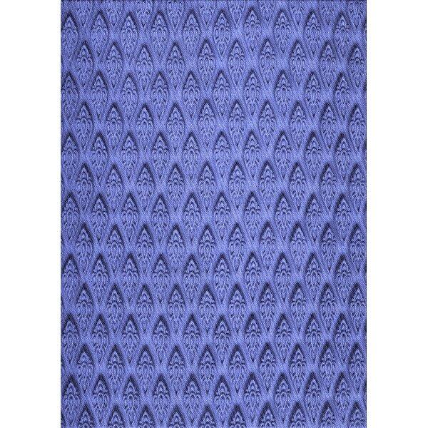 East Urban Home Geometric Wool Violet Area Rug Wayfair