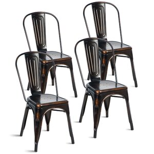 Javier Stackable Tolix Dining Chair (Set of 4)