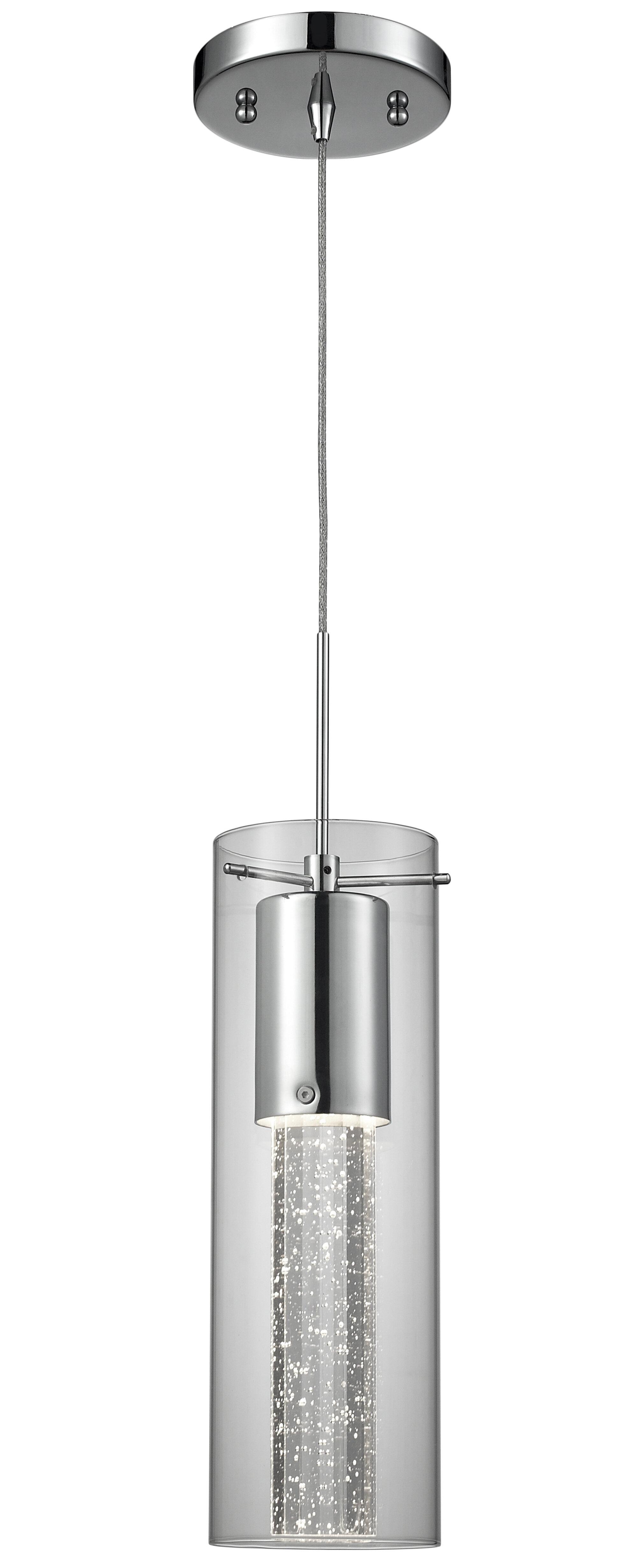 Epstein bubbles 1 light cylinder pendant
