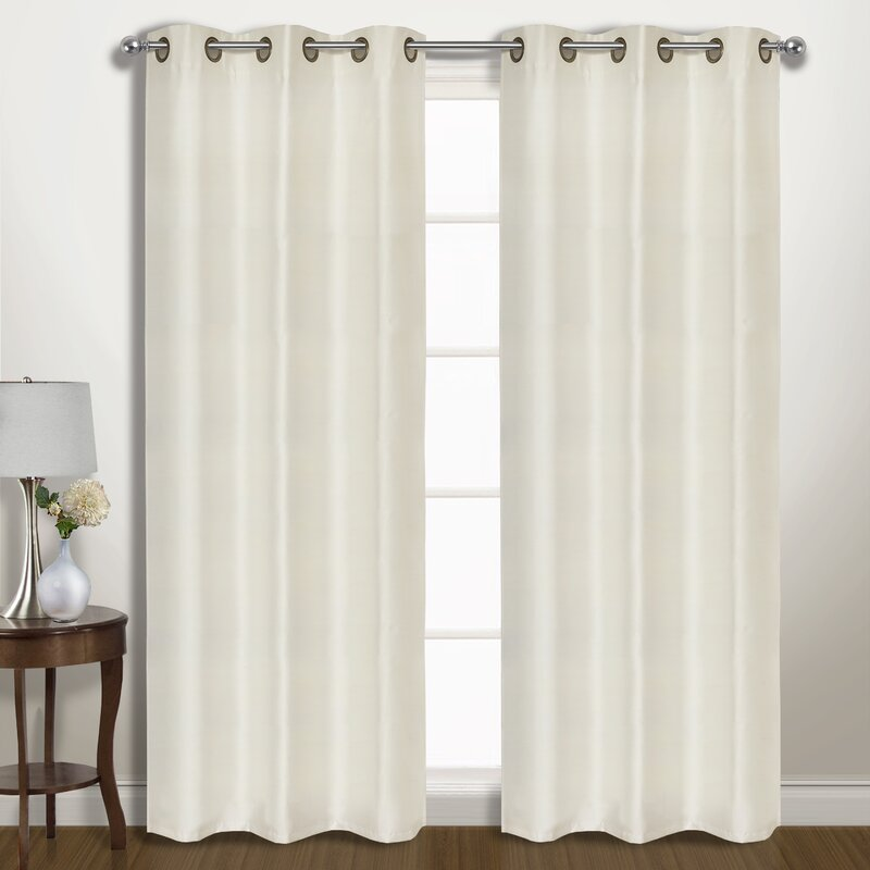 Three Posts Alfort Solid Blackout Thermal Grommet Curtain Panels