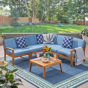 Galindo 6 Piece Sectional Seating Group by Rosecliff Heights