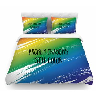 Broken Crayons by NL Designs Abstract Featherweight Duvet Cover