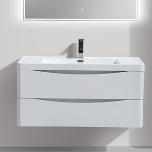 Online Reviews Ruelas 39 Wall-Mounted Single Bathroom Vanity Set By Wrought Studio