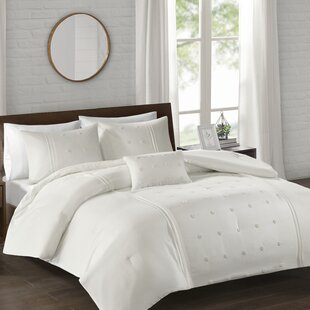 Papillion Piece Dot Embroidered Comforter Set