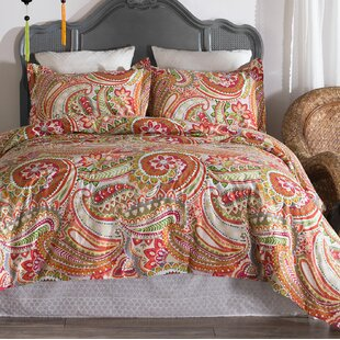 Radabaugh Paisley Cotton 3 Piece Reversible Comforter Set