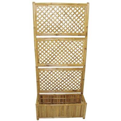 Wood Lattice Panel Trellis Bamboo54
