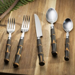 Contara 20-Piece Estelle Bamboo Flatware Set