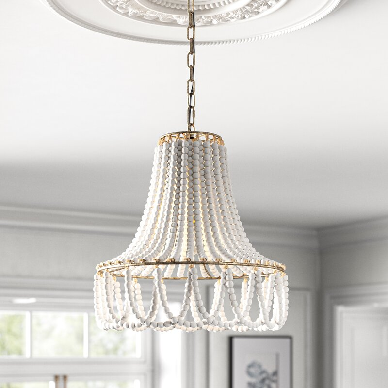 Kelly Clarkson Home Maeve 1 Light Unique Statement Geometric Pendant With Wrought Iron Accents Reviews Wayfair