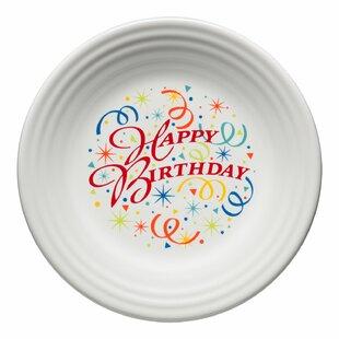 Happy Birthday Luncheon Dessert Plate