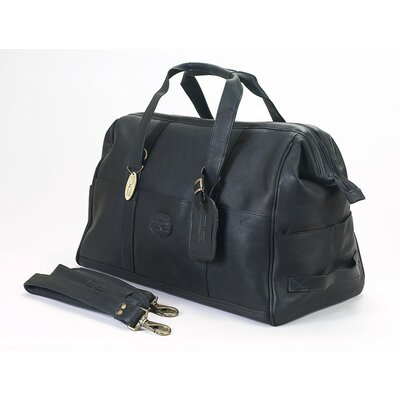 "Luggage Vintage 15"" Leather Carry-on Duffel Claire Chase Color: Black"