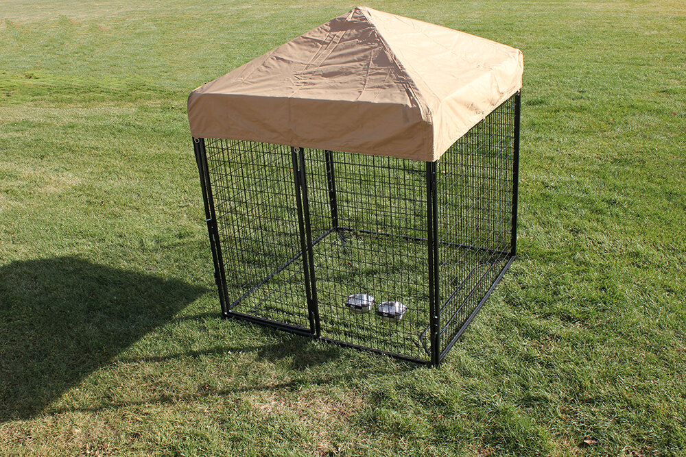 K9 Kennel Modular Complete Welded Wire Steel Yard Kennel Reviews Wayfair