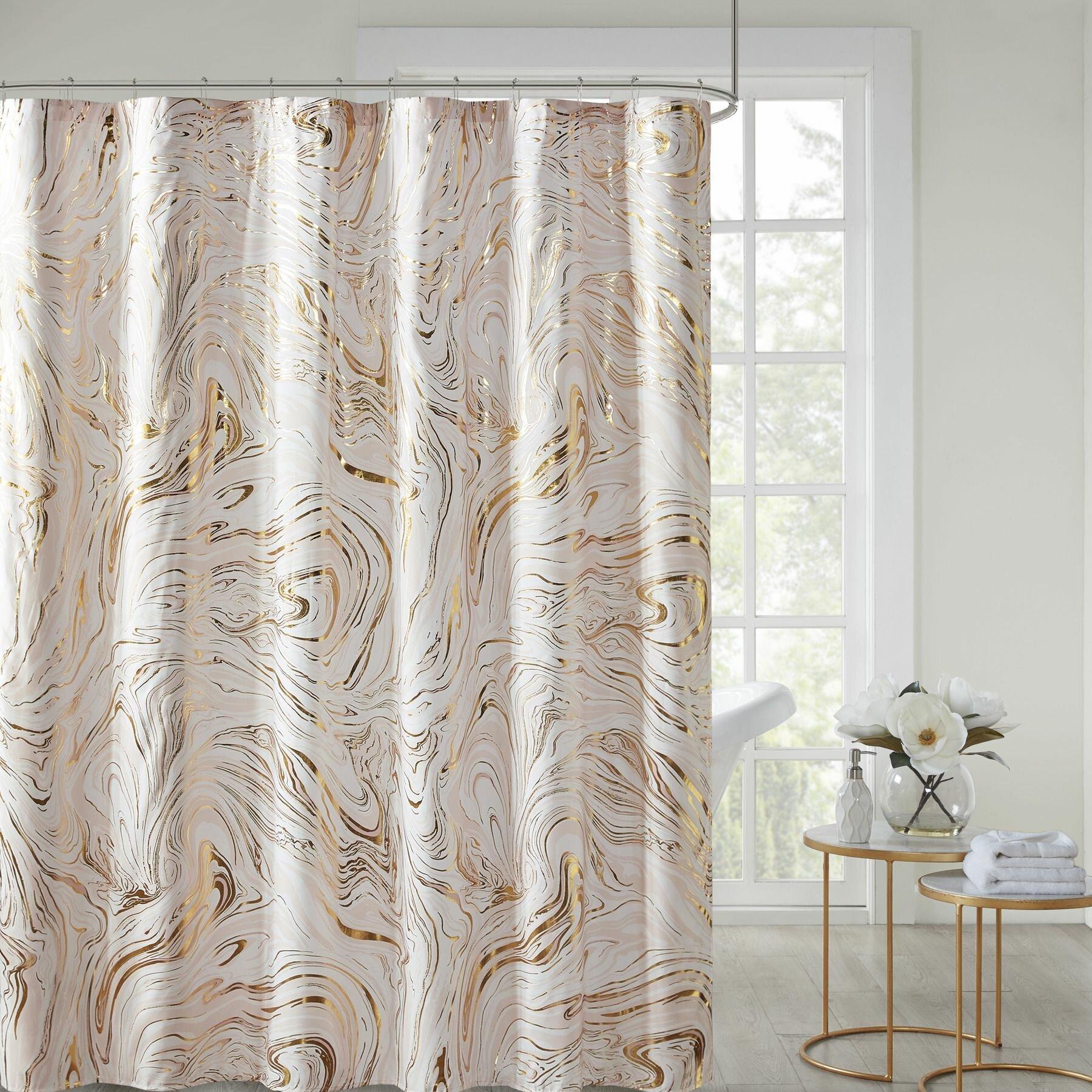 Mercer41 Ariya Abstract Single Shower Curtain Reviews Wayfair