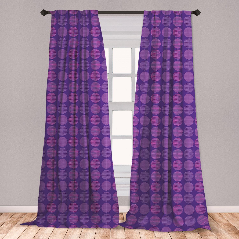 East Urban Home Circle Polka Dots Room Darkening Rod Pocket Curtain Panels Wayfair