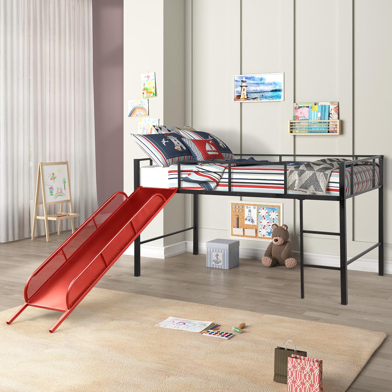 Picture of: Harriet Bee Lightner Twin Loft Bed With Slide Reviews Wayfair