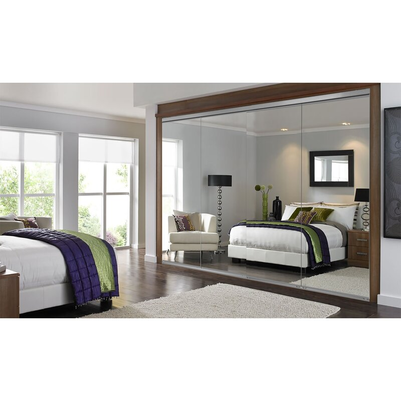 Custom Door And Mirror Mirrored Sliding Closet Doors Reviews Wayfair