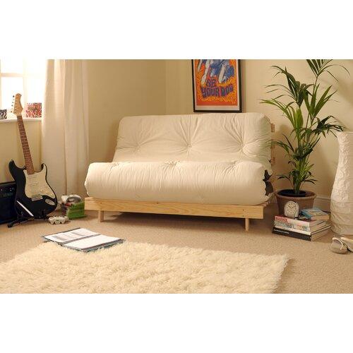 1-Sitzer Futonsessel Danford | Schlafzimmer > Schlafsofas | Naturbelassen | Kieferholz - Baumwolle | 17 Stories