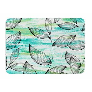 Tropical Leaf Garden by Jessica Wilde Memory Foam Bath Mat