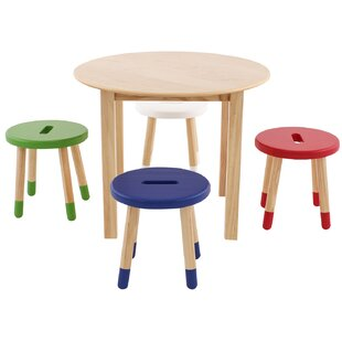 Find for Kids 5 Piece Round Table and Chair Set ByMax & Lily
