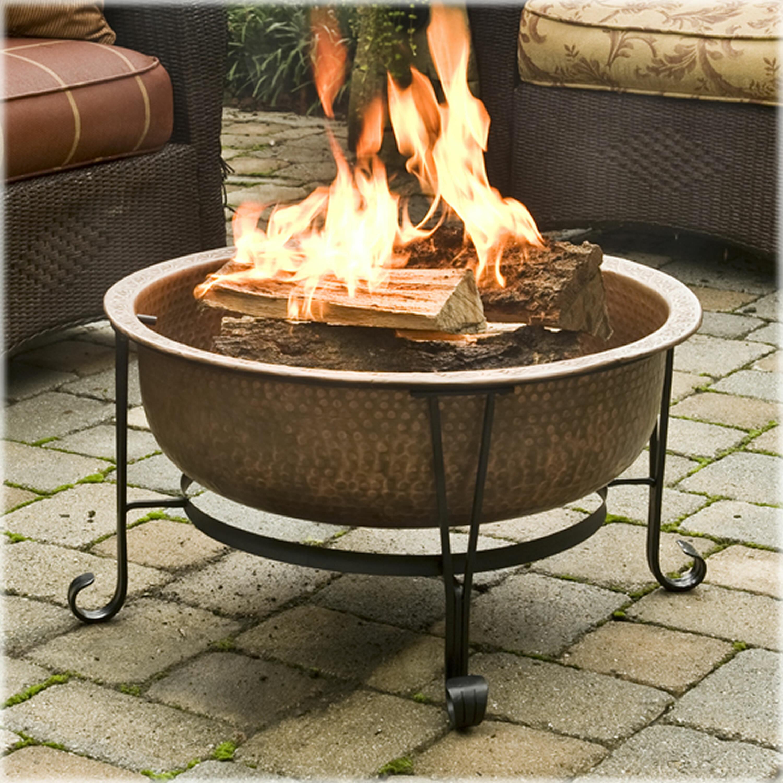 Ebern Designs Pyrite Vintage Copper Wood Burning Fire Pit Reviews Wayfair