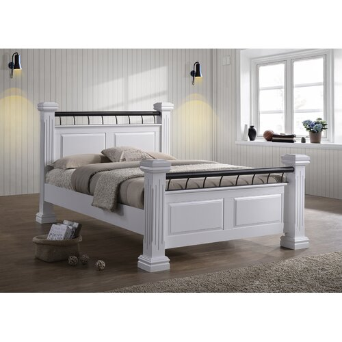 Midland Upholstered Four Poster Bed Ophelia and Co. Colour:
