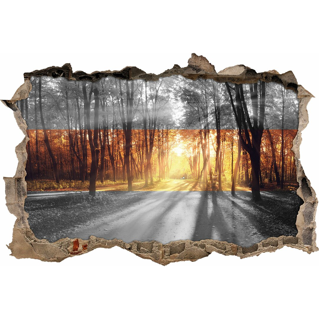 Avenue in Autumn Light Wall Sticker