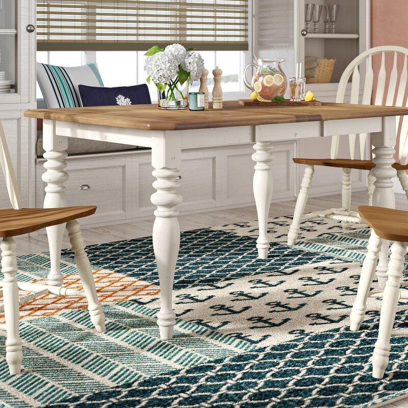Beachcrest Home Bridgeview Extendable Dining Table Reviews Wayfair