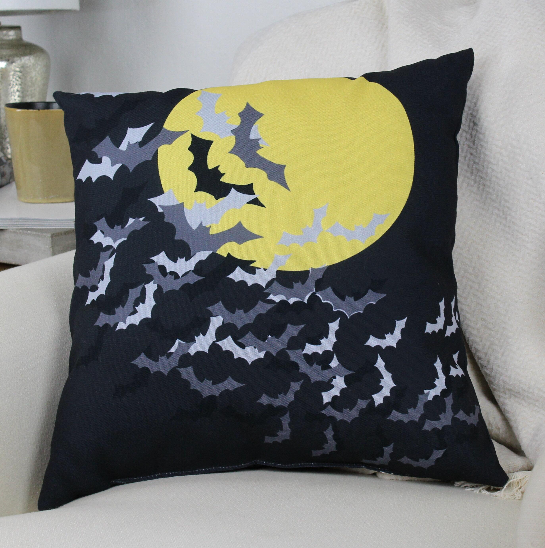 Pillow Perfect Glamour Flock Gold-White Rectangular Throw Pillow
