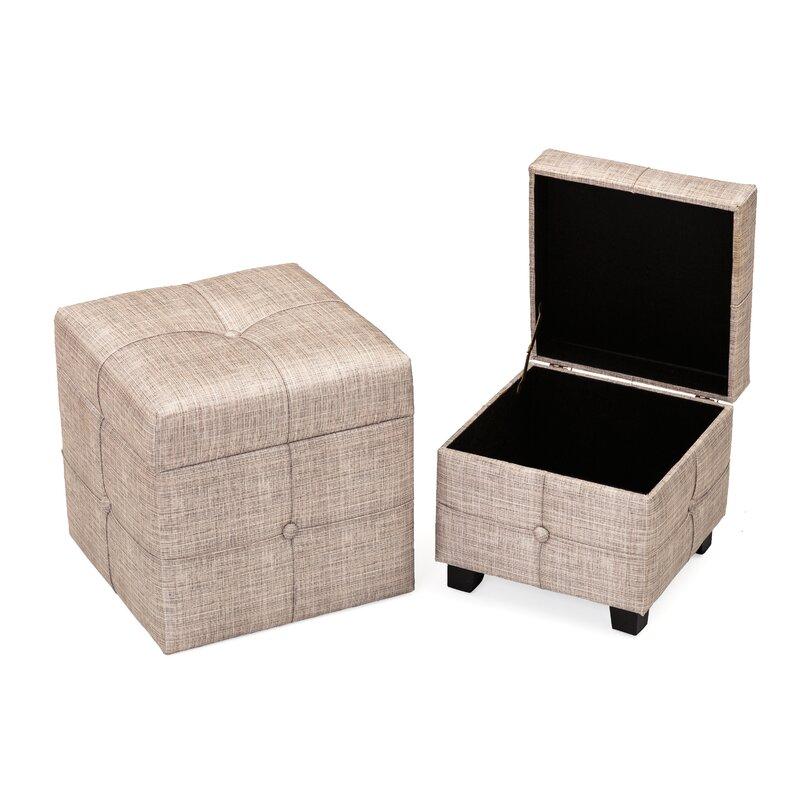 wrought studio 2 tlg hocker set haugen mit stauraum. Black Bedroom Furniture Sets. Home Design Ideas