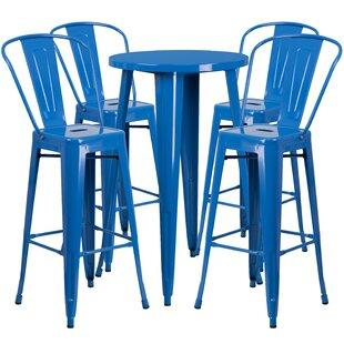 Williamston 5 Piece Bar Height Dining Set
