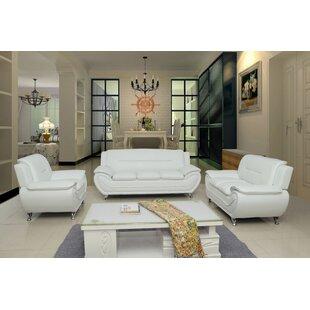 Carlock 79.2 Faux Leather 3Pc Livingroom Set by Ivy Bronx