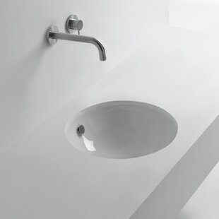 Shop For Pot Ceramic Ceramic Circular Undermount Bathroom Sink with Overflow ByWS Bath Collections