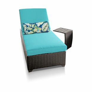 Medley Reclining Chaise Lounge with Cushion and Table