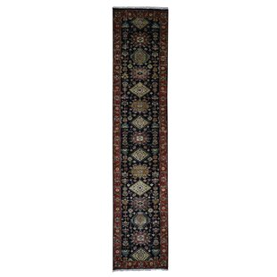 Reviews One-of-a-Kind Ballentine Oriental Hand-Knotted Black Area Rug By Isabelline