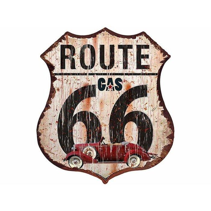 Route 66 Vintage Metal Wall Décor
