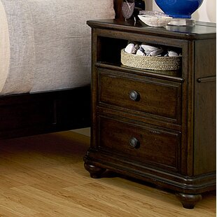 Chassidy Traditional 2 Drawer Nightstand by Harriet Bee