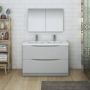 Senza Tuscany 47 Double Bathroom Vanity Set with Medicine Cabinet By Fresca