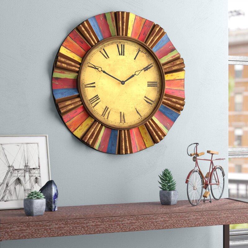 Williston Forge Oversized 30 5 Wall Clock Reviews Wayfair