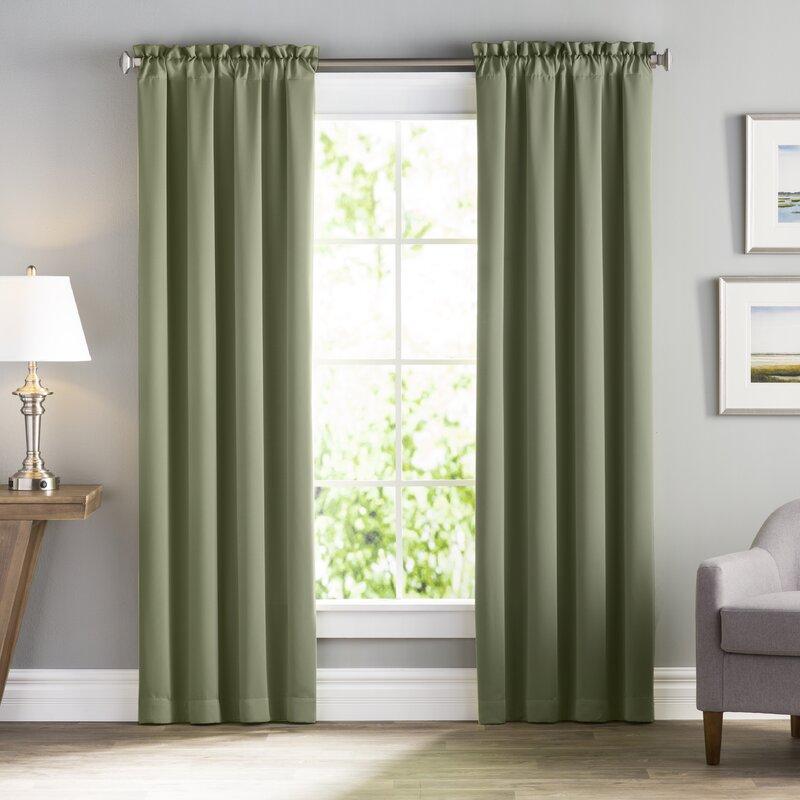 Wayfair Basics Solid Blackout Rod Pocket Single Curtain Panel