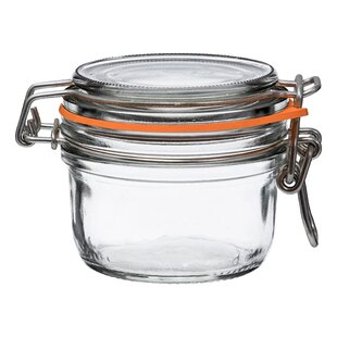 Super Terrine Straight French Glass 4 Piece Storage Jar Set Set Of 4