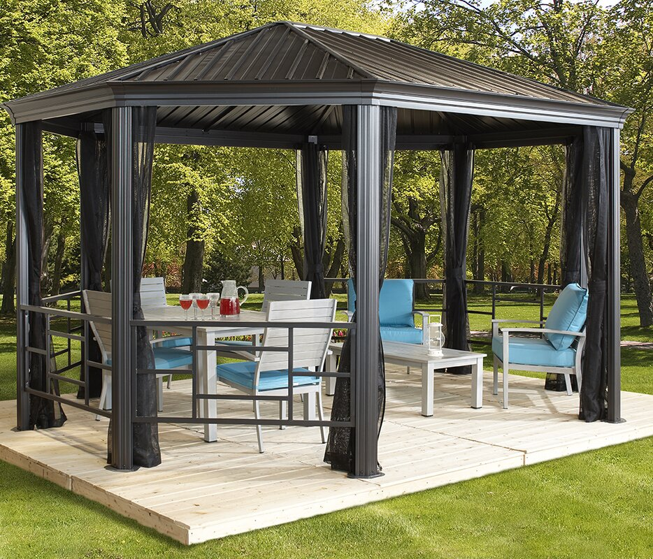Komodo 18 Ft. W x 12 Ft. D Steel Permanent Gazebo