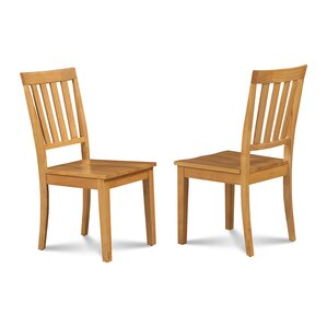 Chicago Dining Solid Wood Dining Chair (Set of 2) by Alcott Hill