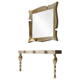 Laivai Console Table And Mirror Set by Everly Quinn New
