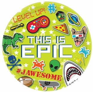 Epic Party Paper Disposable Dessert Plate (Set of 40)