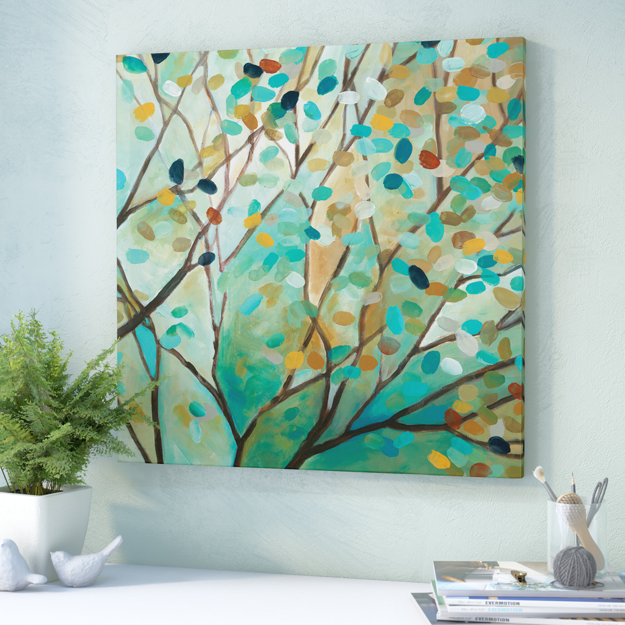 Andover Mills Tree Of Life I Oil Painting Print On Wrapped Canvas