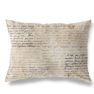 Kittredge Old Writing Version Two Indoor/Outdoor Lumbar Pillow