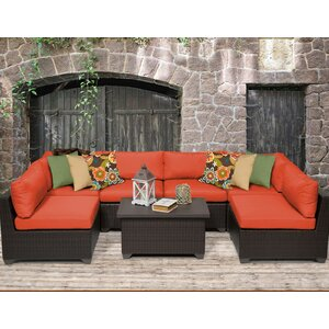 Belle 7 Piece Sectional Seating Group with Cushion