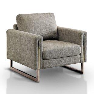 Alaraph Solid Pattern Armchair by Orren Ellis