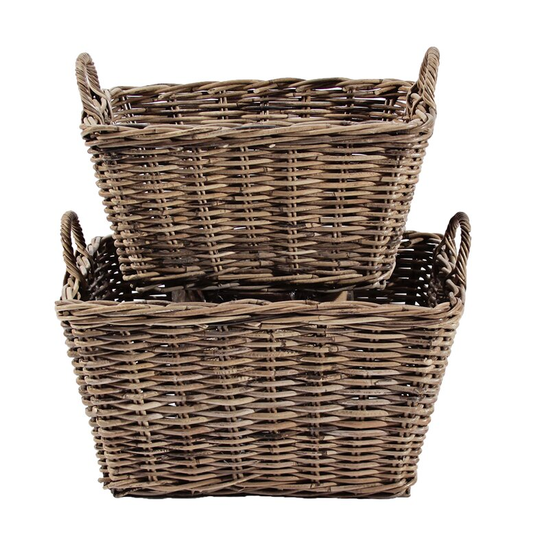 French 2 Piece Classic Basket Set