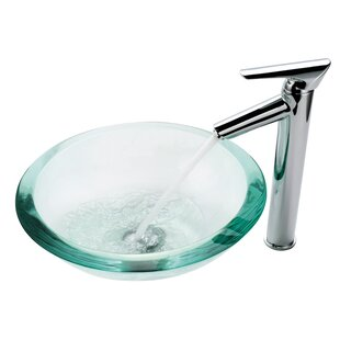 Shop for Clear Glass Glass Circular Vessel Bathroom Sink By Kraus