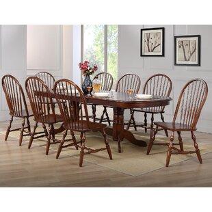 Lockwood 9 Piece Drop Leaf Dining Set by Loon Peak 2019 Sale